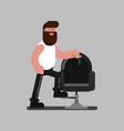 barber standing near the chair vector image