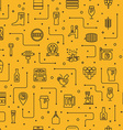 Beer icons background vector image