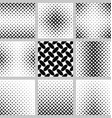 Black and white ellipse pattern background set vector image