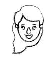 blurred silhouette caricature front view face vector image vector image