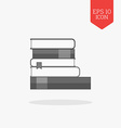 Books icon Flat design gray color symbol Modern UI vector image vector image