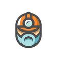 builder men in a helmet icon cartoon vector image