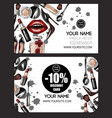 business and discount card for makeup artist vector image