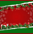 christmas banner with ripped paper vector image vector image