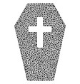 coffin mosaic of dots vector image vector image