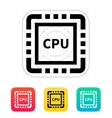 CPU icon vector image vector image