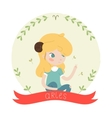 cute horoscope - aries vector image