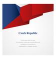 czech republic insignia template vector image vector image
