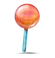 Delicious lolly pop isolated on white vector image
