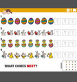 educational pattern game for kids with easter vector image vector image