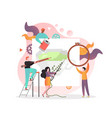embroidery concept for web banner website vector image vector image