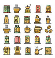 energetic drink icons set flat vector image vector image