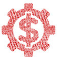 financial options fabric textured icon vector image