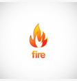 fire flame logo vector image