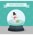 Flat of christmas snow ball vector image