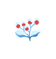 flat winter abstract plant floral snowcap vector image vector image