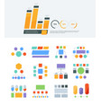 flowchart geometrical structure data infographic vector image vector image