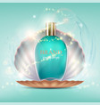 glass bottle with a perfume vector image