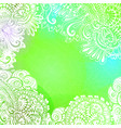 green romantic background for meditation design vector image