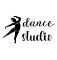 hand drawn calligraphy lettering dance studio vector image
