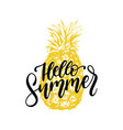 hand lettering hello summer inspirational vector image vector image