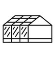 home greenhouse icon outline style vector image vector image