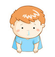 ill boy runny nose cartoon vector image vector image
