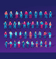 isometric people urban vector image vector image