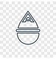 jewish incense concept linear icon isolated on vector image