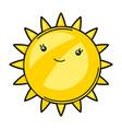 kawaii cute sun vector image