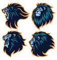 lion head esport logo mascot set premium pack vector image vector image