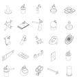 Magic icons set isometric 3d style vector image vector image