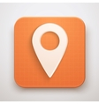 Map Marker Pin Icon vector image