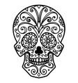 mexican sugar skull day of the dead dia de los vector image
