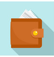 money wallet icon flat style vector image vector image