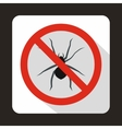No spider sign icon flat style vector image vector image