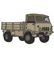 Old small military terrain truck vector image vector image