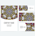 Ornamental Business Set Dedign vector image vector image