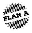 plan a black stamp vector image