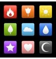 Random abstract icons set vector image vector image