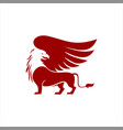red griffin winged animal vector image vector image