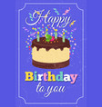 retro happy birthday party greeting card vector image
