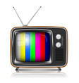 retro tv with color frame vector image vector image