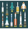 Rocket set vector image vector image