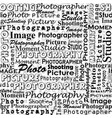 seamless background with with messages words on vector image vector image