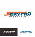 service pro centra logo vector image vector image