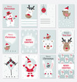 set of christmas and new year cards vector image vector image