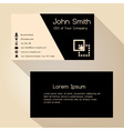 simple black and brown business card design vector image vector image