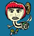 Snail Devil Abstarct Cartoon vector image