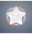 Star Sale Banner With Neon Decorations vector image